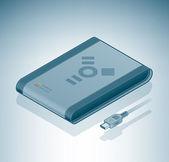 Portable Hard Disk Drive (Firewire) — Stock Vector