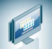 Panorama computer lcd-display — Stockvektor