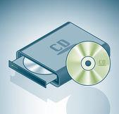 便携式 cd-rom 驱动器 — 图库矢量图片