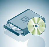 Portable CD-ROM drive — Vecteur