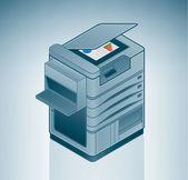 Large Office Laser Printer — Stock Vector