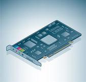 Tarjeta de sonido del ordenador — Vector de stock