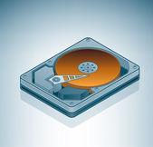 Hard Disk Drive — Stock Vector