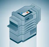 Large Photo Printer / Copier — Stock Vector