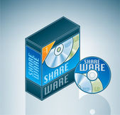 Shareware-software-bundle — Stockvektor