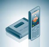 Internet bezdrátový videotelefon — Stock vektor
