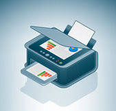 Small Office / Home Inkjet Printer Photo — Stock Vector