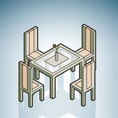 Dinner Table — Stock Vector