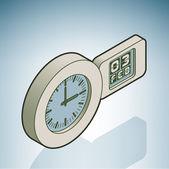 управление настенные часы — Cтоковый вектор