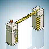 Parking Gate / Barrier — Stock Vector