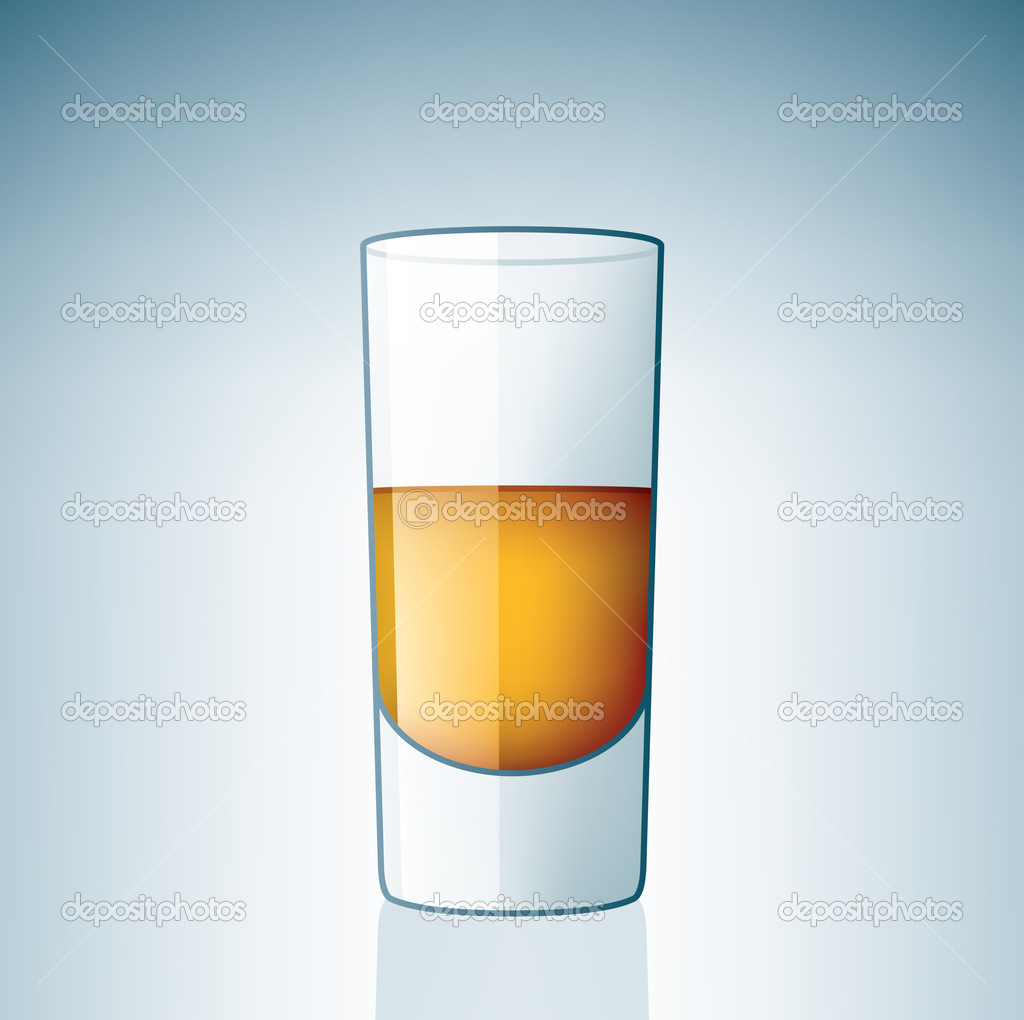 Vodka Shoot Glass (part of the Alcohol Glass Icons Set) — Stock Vector #3378562