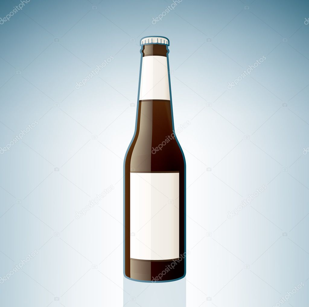 Brown beer bottle stock vector 169 vectorminator 3383446