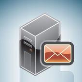 Correo electrónico del ordenador — Vector de stock