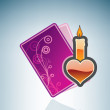Royalty-Free Stock Vector Image: Valentine/Love Card with a Candle