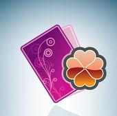 Valentine/Love Card & Clover — Stock Vector