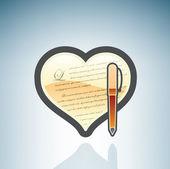 Para escribir cartas de amor — Vector de stock