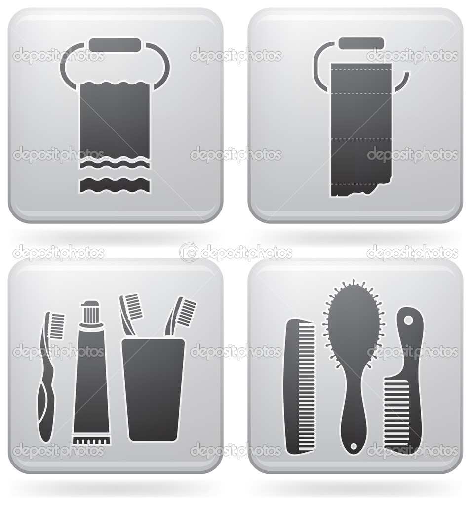 Bath utensils stock vector vectorminator 3556362 for Bathroom utensils