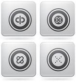 Różne ikony platyna — Wektor stockowy