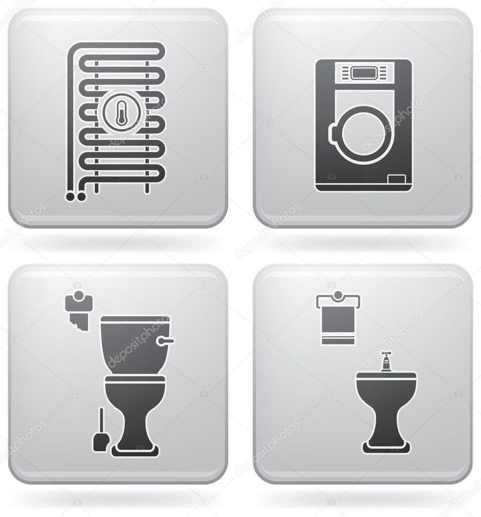 Bathroom Appliances Stock Vector Vectorminator 3573828