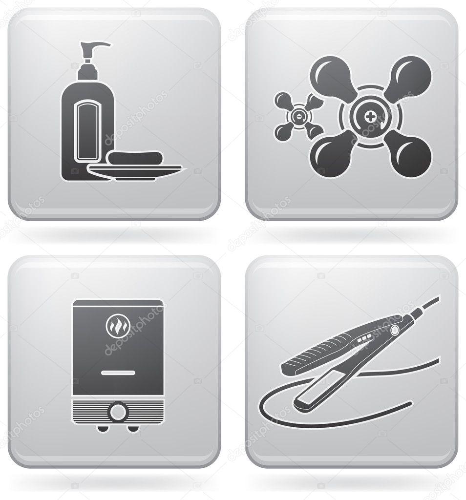 Bathroom appliances stock vector vectorminator 3573830 for Bathroom appliances