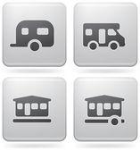 Campeggio icone — Vettoriale Stock