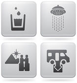 ícones de campismo — Vetorial Stock