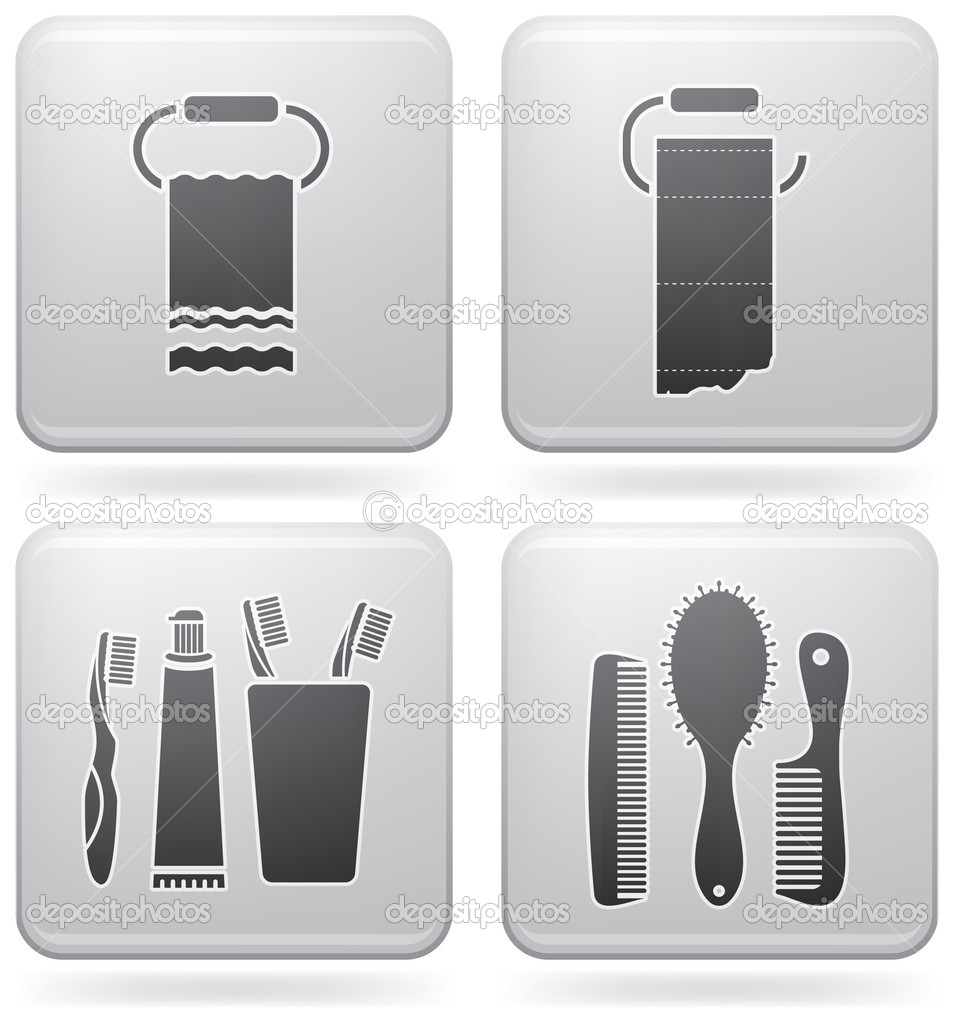 Bathroom utensils stock vector vectorminator 3630050 for Bathroom utensils