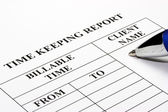 Legal Time Keeping Report — Stock Photo