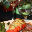 Lobster Dinner — Stockfoto