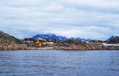 Norweska wieś na lofotach — Zdjęcie stockowe