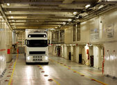 The truck in the ferry — Stock Photo
