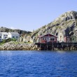 Stock Photo: Village Skrovon NorwegiLofoten Islands