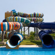 Waterpark in the open air — Stock Photo