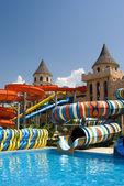 Aqua park in the open air — Stock Photo