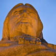 Stock Photo: Detail of enormous statue of christ in Portu
