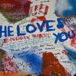 Lennon wall — Stock Photo