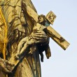 Stock Photo: Statue at the Charles bridge