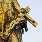 Statue at the Charles bridge — Stock Photo