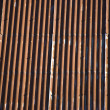 Corrugated galvanised iron - Stock Photo