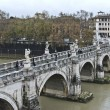 Famous Ponte Sant Angelo in Rome in autumn - Stok fotoraf