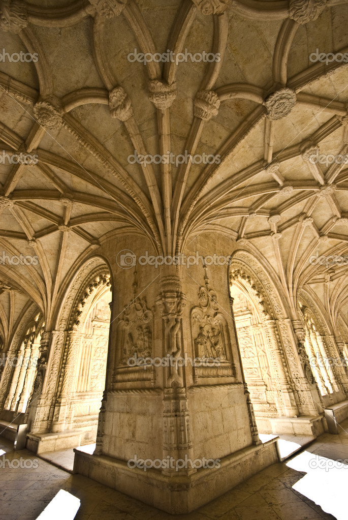 Detail of the beautiful cloister of the monastery — Stock Photo #3093721