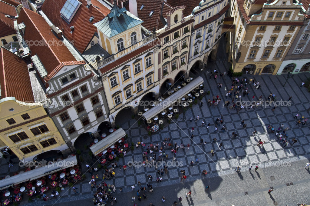 Part of the famous Old town square in Prague — Stock Photo #3094660