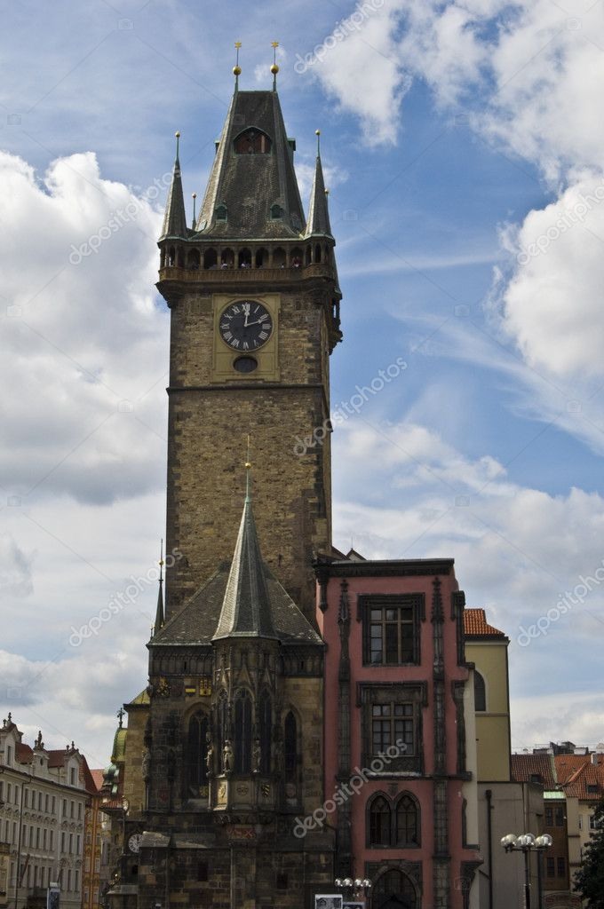 Townhall of the old part of Prague — Stock Photo #3095232