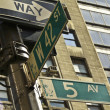 5th Avenue and 42nd Street - Stock Photo