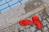 Red Flip Flops — Stock Photo
