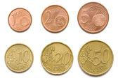 Euro cent coins set — Stock Photo