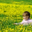 Royalty-Free Stock Photo: Cute child play on meadow