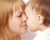 Mother and child looking at each other — Stock Photo