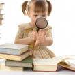 Little girl with books — Stock Photo #3097679