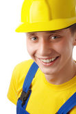 Happy young worker — Stock Photo